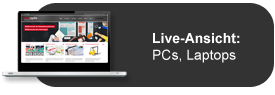 Responsive Webdesign Vorschau für PC