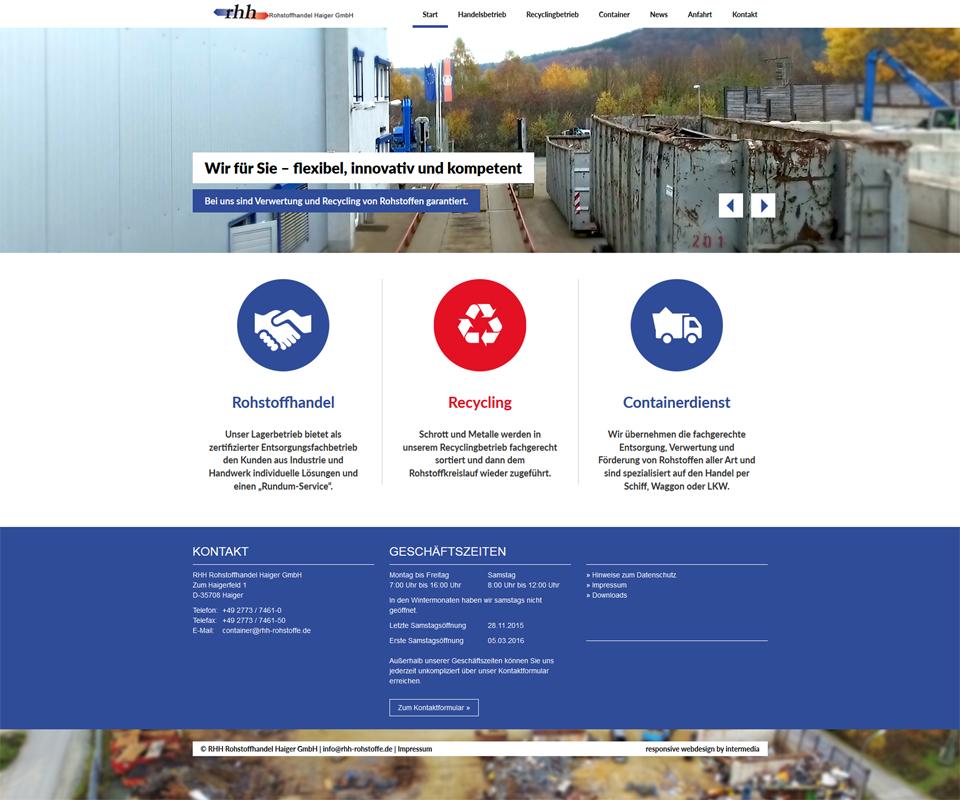 Responsive Webdesign Rohstoffhandel